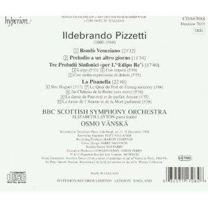 Pizzetti: Rondo Venezia / Preludio a un altro giorno / Tri Preludii Sinonici (per L'Edipo Re) / La Pisanella (Orchestral Works) - BBC Scottish Symphony