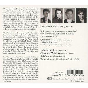 Weber: Violin Sonatas Op.10 Nos.1-6, Piano Quartet
