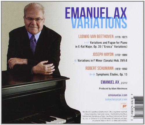 new release Emanuel Ax's solo recital album Variations