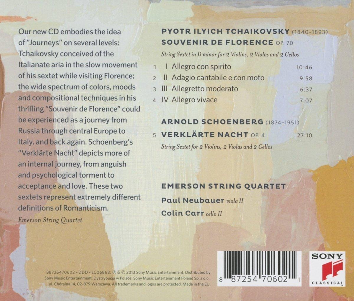 Emerson String Quartet's new Journeys, Sony Masterworks