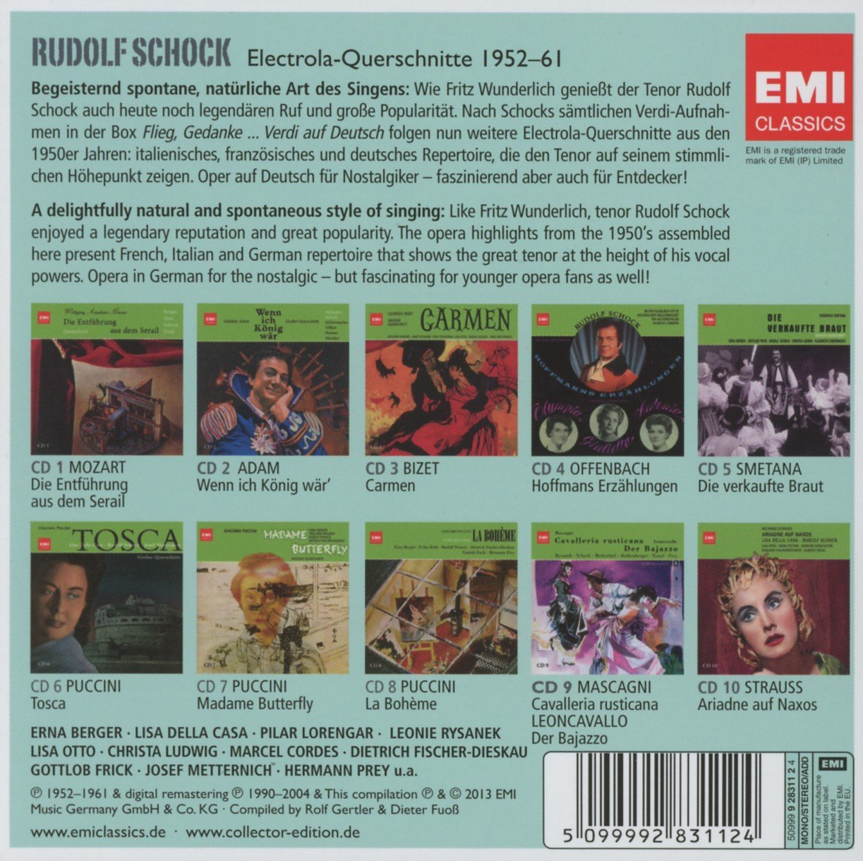 Rudolf Schock on EMI new release 10 CD box-set