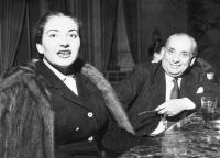 Maria with Giovanni Battista Meneghini, Milan 1951